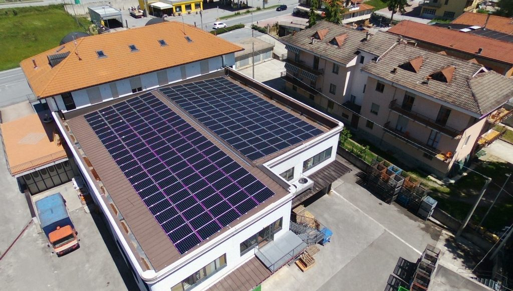 impianto fotovoltaico sunpower industria